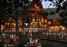 Dining at The David Livingstone Safari Lodge in Spa