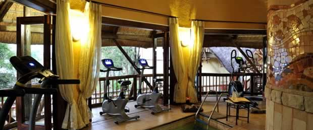 There is a fitness centre at the Lodge