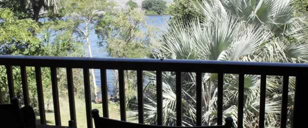 View from a room over the Zambezi