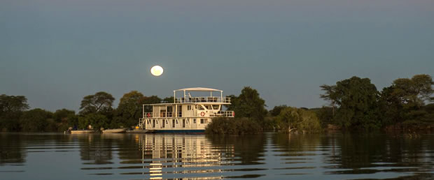 Moored in the evening listening to the sounds of the African Veld